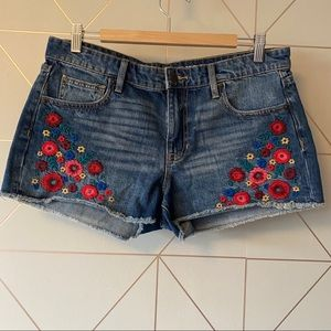 GAP Floral Embroidery Jean Shorts